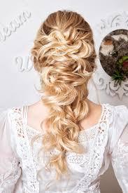 Krása Svatební účes Nevěsta Blonďatá Dívka S Kudrnatými Vlasy