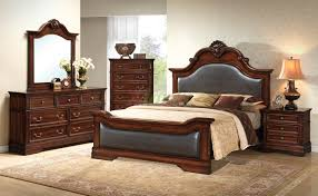 brown leather bedroom furniture. Leather Bedroom Furniture New On Contemporary Set With Headboard And Footboard Tdc0000134 Brown E