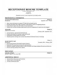 Sample Resume For Secretary Receptionist Samples Skills