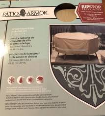 patio armor rip stop round table chair set cover 94 d x 27