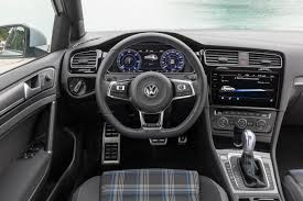2018 volkswagen golf r interior. fine golf the steering wheel felt sturdy and is equipped with all the necessary  buttons features including shiny gte engraving at bottom to 2018 volkswagen golf r interior
