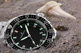 prometheus watch company prometheus jellyfish automatic tritium prometheus watch company jellyfish diver automatic mens diver watch black dial