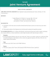 Joint Partnership Agreement Template Joint Venture Agreement Free Joint Venture Forms US LawDepot 1