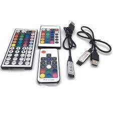 Led Şerit 5 12 24 V Volt RGB USB IR RF Uzaktan Kumanda 5 V 12 V 24 V usb'li  şerit Led ışık 3 17 24 Anahtar Uzaktan Kablosuz Denetleyici RGB Controlers