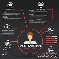 Resume Cv Template Infographics Background And Element Can Stunning Resume Background