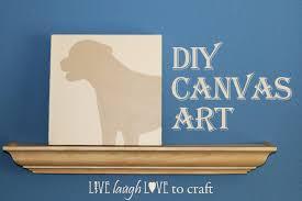 Diy Canvas Art Diy Canvas Art How To Paint A Silhouette Portrait Live Laugh