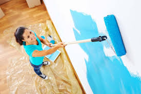 a roller on the end of an extension pole is the best tool for painting walls