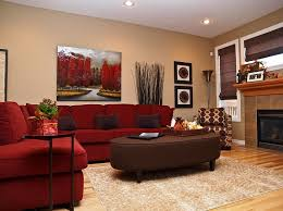 amazing red sofa living room ideas red microfiber sectional couches beige pattern fabric rug brown leather