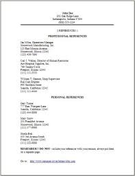 Reference Page Template Resume Commily Com