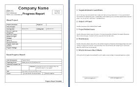 Weekly Report Template Free Printable Ms Word Format