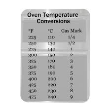 Gas Oven Temperature Conversion Chart Oven Temperature Conversion Magnet