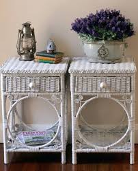 white wicker side table life painted white wicker bedside tables round white wicker side table
