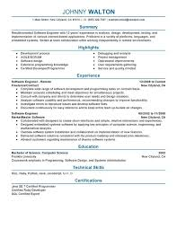 Software Developer Resume Samples Quality Engineer Skills Resume
