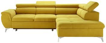 Wohnlandschaft In Gelb Mit Bettfunktion Wohnzimmer