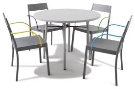 outdoor cafe table and chairs. pub style exterior dining room decor with metal coated outdoor bistro table, silver paddle cafe table and chairs