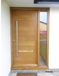 contemporary oak door and sidelight