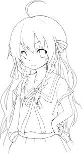 Anime Coloring Pages For Girls Anime Girl Coloring Pages With Anime
