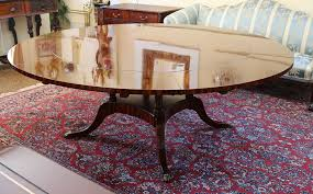 huge 60 to 84 inch round flame mahogany dining table w 6 leaves great base