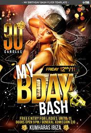 Birthday Flyers Template My Birthday Bash Flyer Template By NoryAch GraphicRiver 4