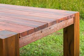 outdoor table. Recycled Timber Outdoor Table