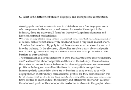 what is the difference between oligopoly and monopolistic document image preview