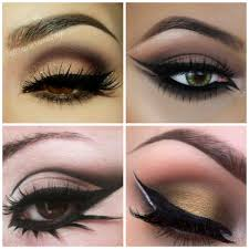 these are the ideal eyes for cat eye makeup and arabian eyes makeup light colours or dark colours anything suits but also look at the fact if your