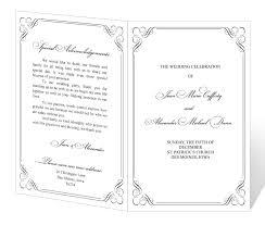 Catholic Wedding Mass Program Wedding Program Templates