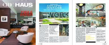 CHIC HAUS Publishes Blitz in Mexico. CHIC HAUS, an interior design magazine  ...