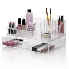 Amazon.com: Premium Quality Clear Plastic Cosmetic and Makeup Palette  Organizer with 1 Drawer | Audrey Collection