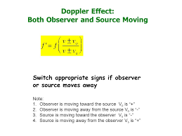 32 doppler effect both observer and source moving