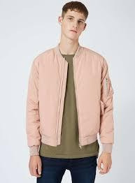 Light Pink Jacket Men Light Pink Padded Ma1 Bomber Jacket Bomber Jacket Jackets