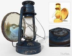 Old Oil Light Old Oil Lamp Pbr Low Poly 3d Model