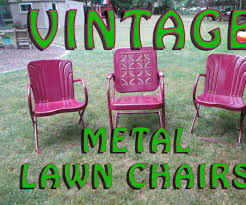 Rejuvenate Vintage Metal Lawn Chairs