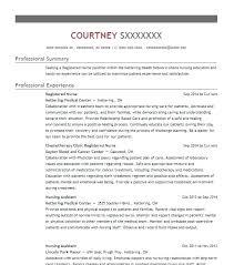 Nursing Resume Examples 2012 University Resume Sample Nursing