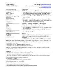 Web Dev Resume