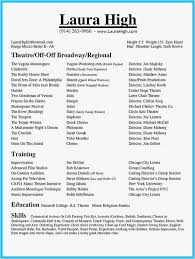 29 Musical Theatre Resume Template Picture Best Resume Templates