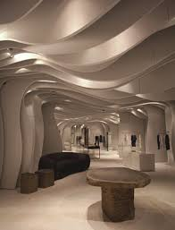 Curved Architecture Architecture Adorable Store Interior Design Ideas With Unique