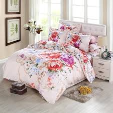 amazing watercolor bed sheets x7026452 oriental vintage rose peony watercolor flower bedding sets queen king size trending watercolor bed sheets