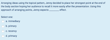 Topical Pattern Beauteous Solved Arranging Ideas Using The Topical Pattern Jenny D