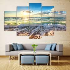 wall art sea beach scenery print split canvas paintings colormix 1pc 10 24 on beach framed canvas wall art with 2018 wall art sea beach scenery print split canvas paintings