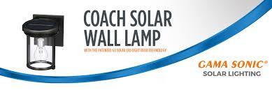 Gama Sonic Solar Coach Light Solar Coach Light 7 5 In H Black Solar Led Outdoor Wall Light