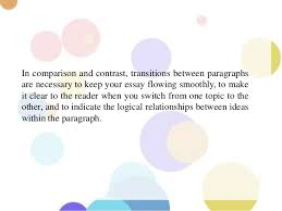 compare and contrast structure of comparison and contrast essay