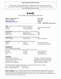 Actor Resume Template Awesome Resume For Child Actor Scope Of Work