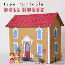 free printable dollhouse template