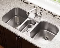 triple bowl stainless steel sink kitchen undermount craigslist full size