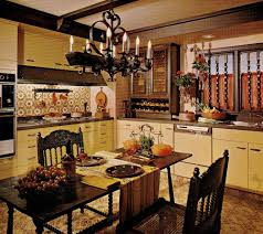 Spanish Style Kitchen Decor Dazzling Spanish Kitchen Decor With Carved Chairs And Floral