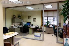 elegant glass walls partition offices