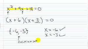 algebra i help solving quadratic equations by factoring part i you