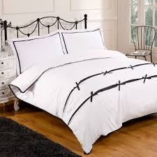 Bo Peep Black White Bedding Set For Double Bed With Edging Piping ...