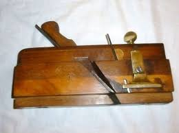 antique wood planes. antique wooden moving fillister plane old woodworking / tool wood planes